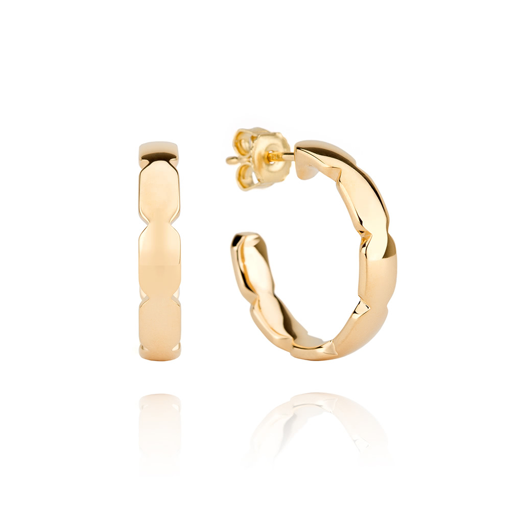 Touched by Grace Yellow Gold Earrings