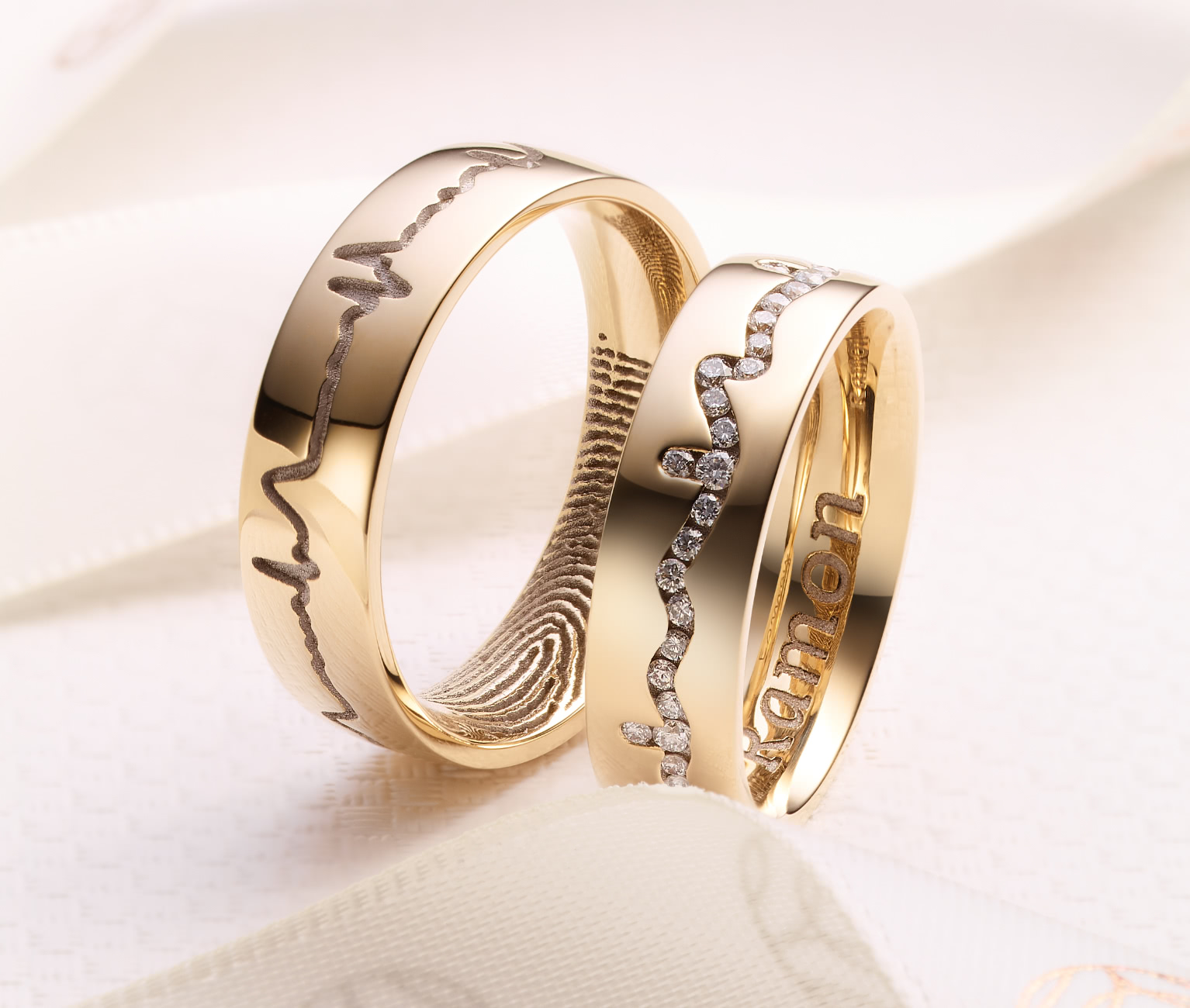 rings custom cheshire shaped wedding fingerprint cooljoolz